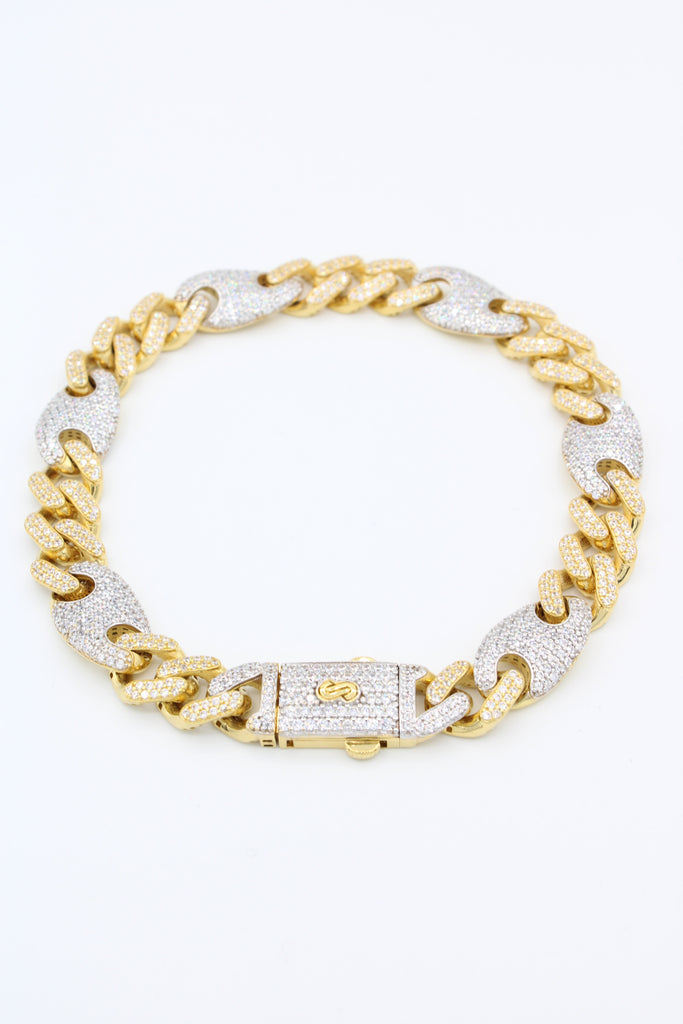 *NEW*14K  Gucci Monaco Hollow Bracelet  JTJ™- - Javierthejewelernyc