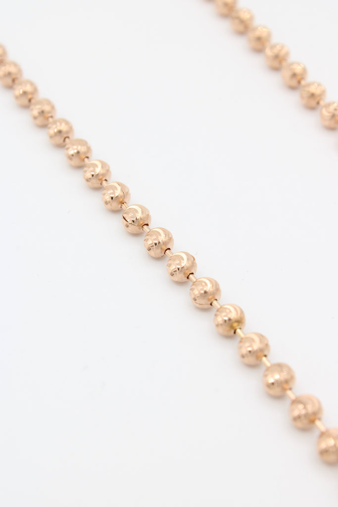 14K Rose Gold Moon Cut Chain  JTJ™- - Javierthejewelernyc
