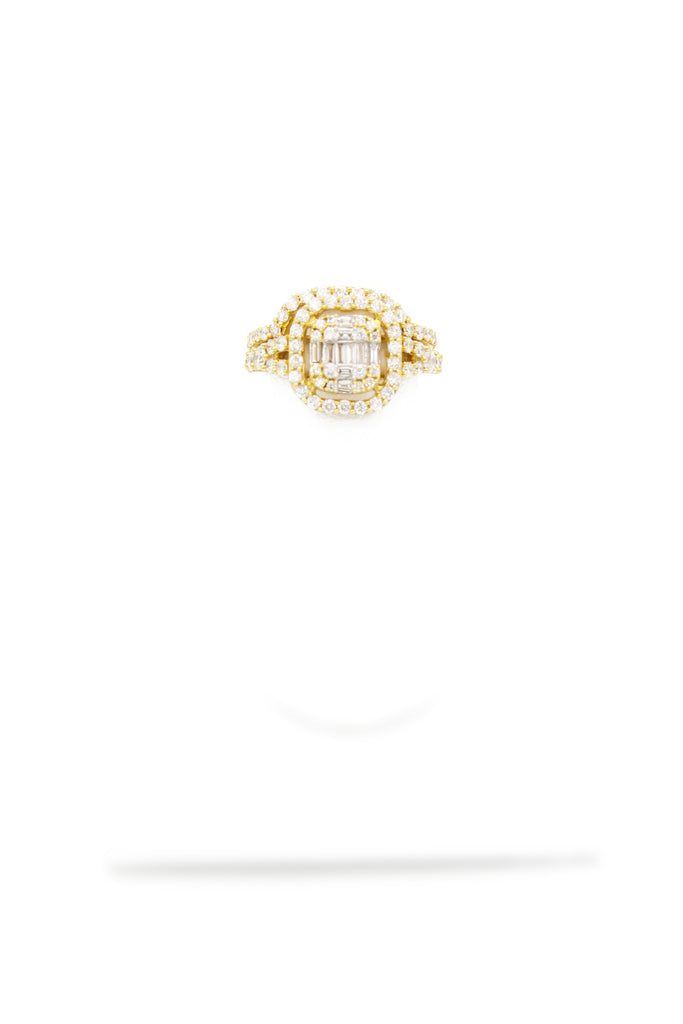 *NEW*14k Big Square Duo Engagement Ring Diamonds💎 JTJ™ - Javierthejewelernyc