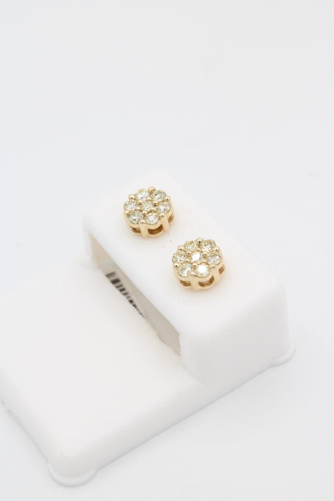 *NEW*14k Money Flower( Diamond 💎 VS/SI) Studs Medium Size JTJ™ - Javierthejewelernyc