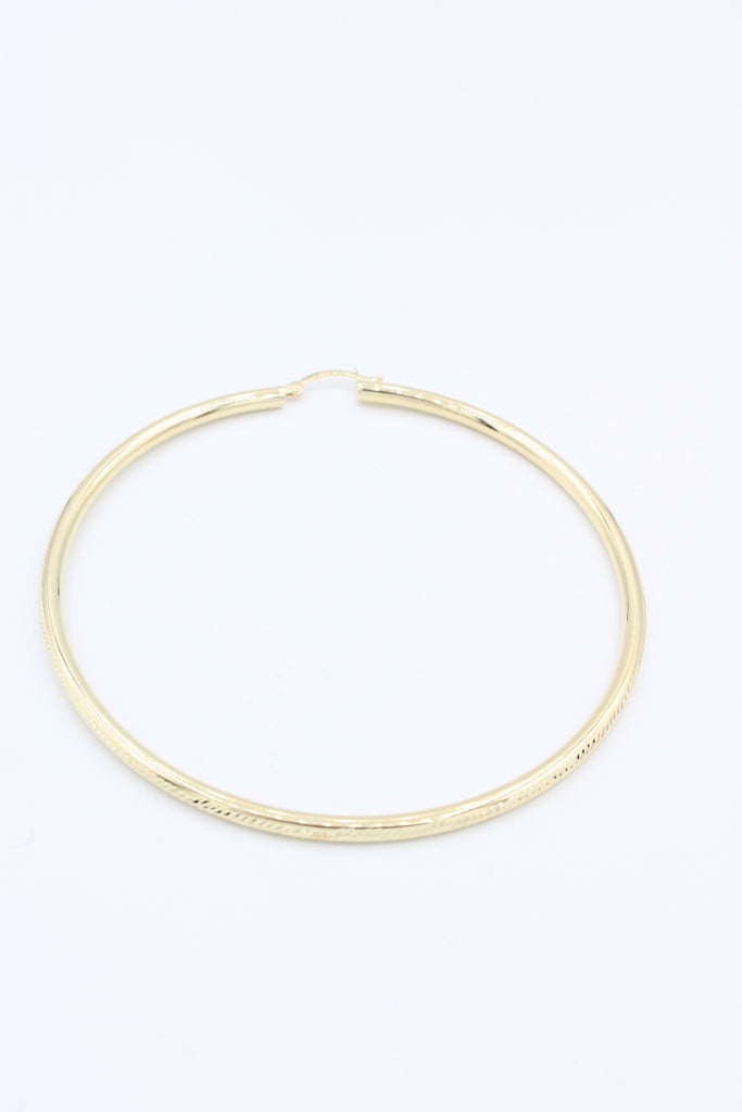 14k Gold Gig Hoops (Diamond Cut)JTJ™ - Javierthejewelernyc