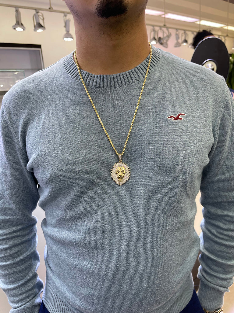 *NEW*14k Hollow Rope Chain W/ Leon 🦁 Pendant JTJ™- - Javierthejewelernyc