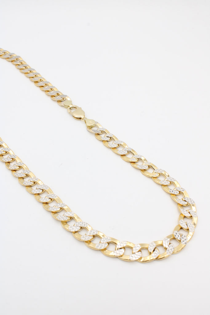 *NEW* 14k Hollow Cuban Chain (Curb Two Tone) JTJ™ - Javierthejeweler