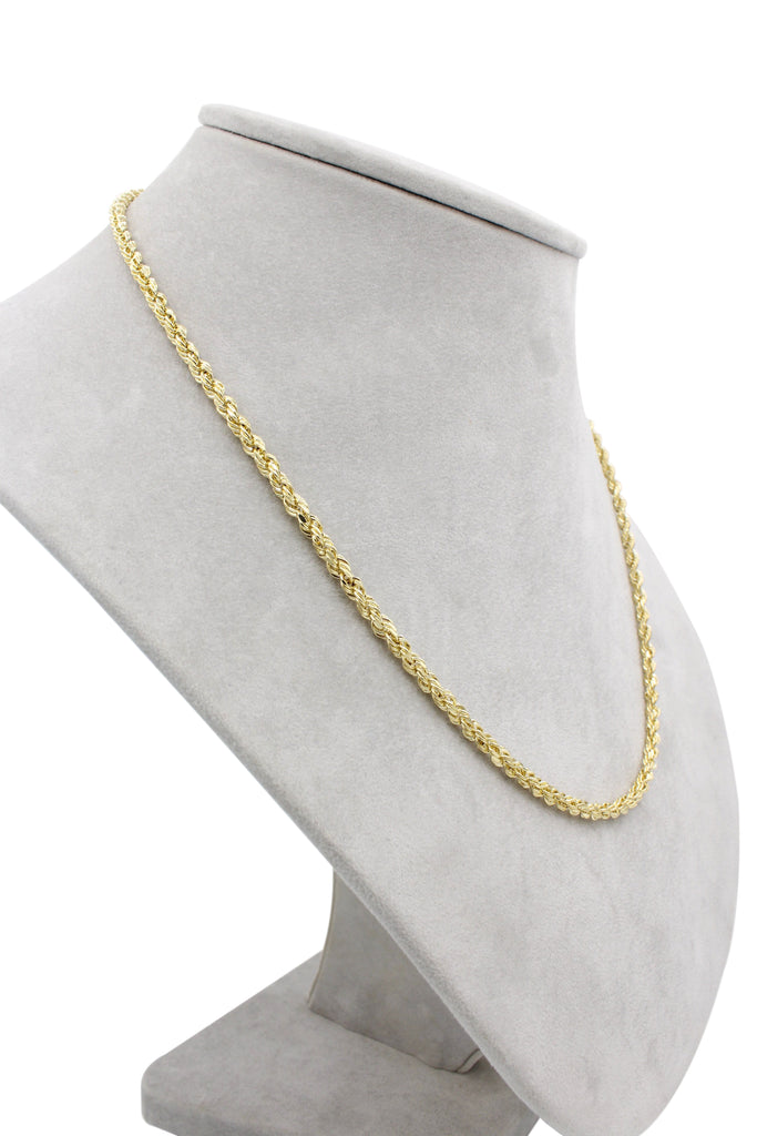 *NEW* 14K Hollow Rope Chain (3MM)-JTJ™ - Javierthejeweler