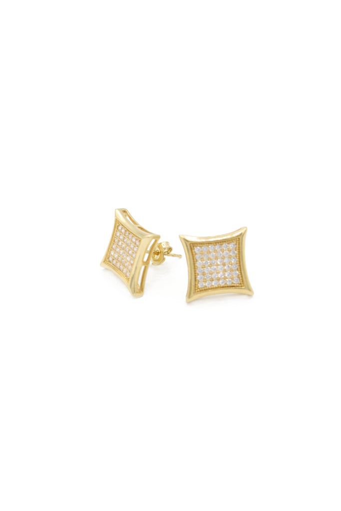 *NEW* 14K CZ Square Earrings JTJ™ - Javierthejewelernyc