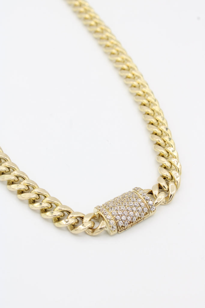 "*NEW* 14k Hollow Cuban Choker (6.7  mm-16"" inches)JTJ™ - Javierthejeweler"