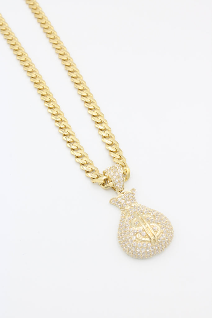 14K Monaco Hollow Chain W/ Money Bag Pendant Included  JTJ™ - Javierthejewelernyc