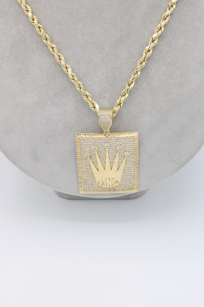 *NEW* 14k Rolex C Pendant W/ Hollow Rope Chain Included - JTJ™ - Javierthejewelernyc