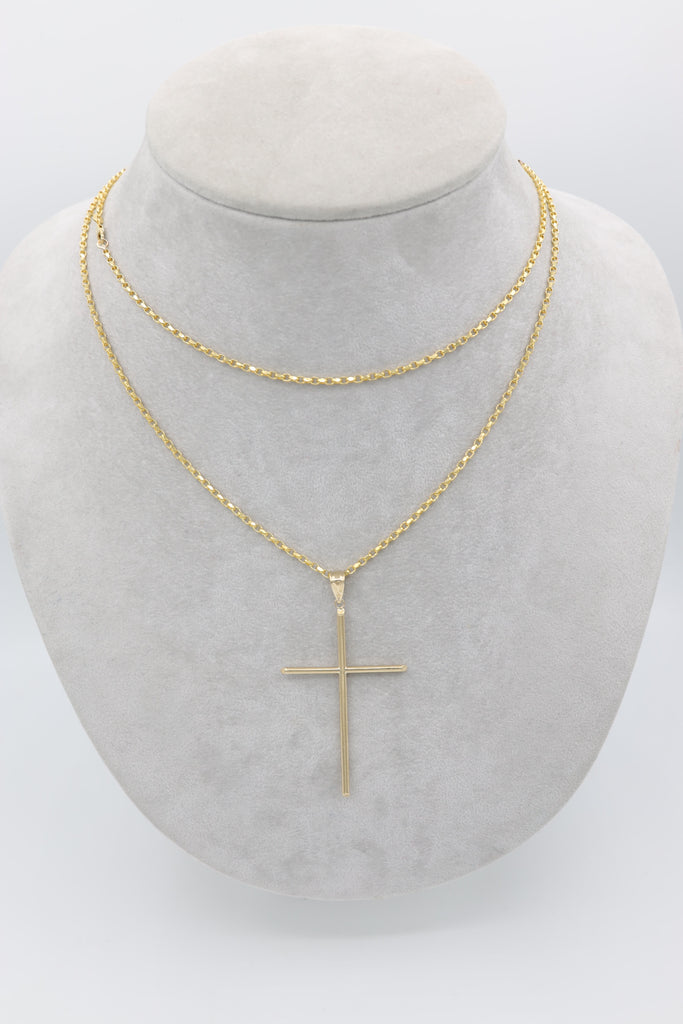 *NEW* 14k Lady Necklace W/ Cross - JTJ™ - Javierthejewelernyc