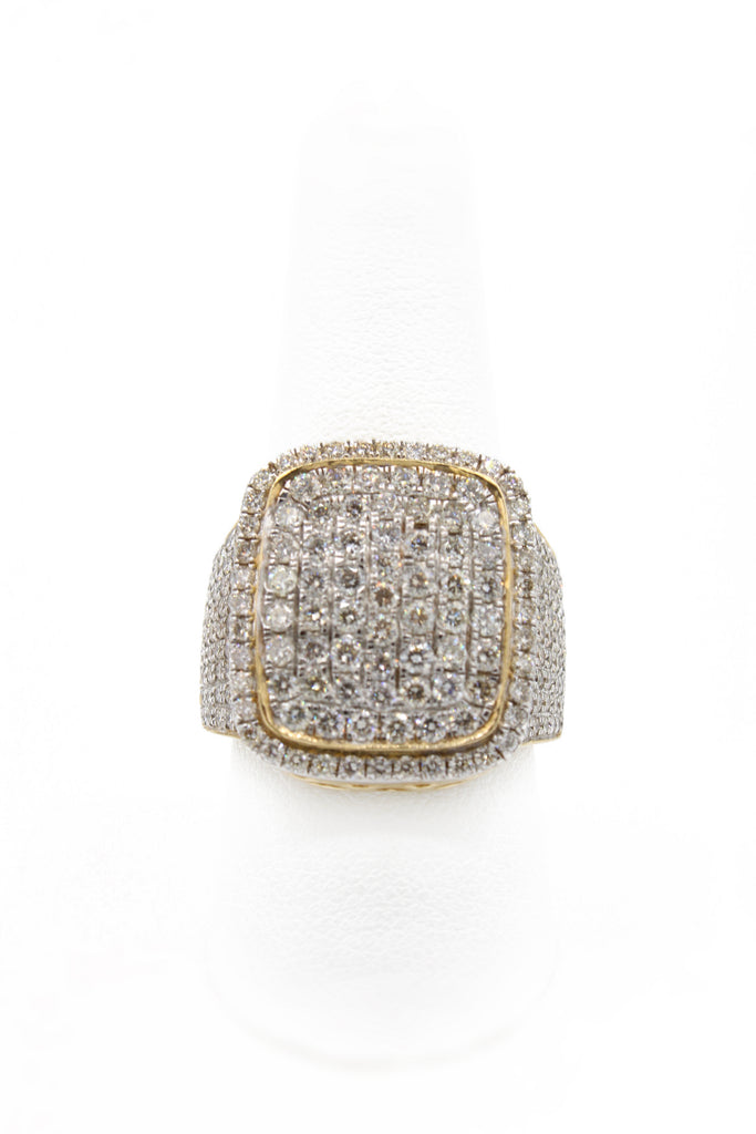 14K Square Diamond Ring JTJ™ - Javierthejewelernyc