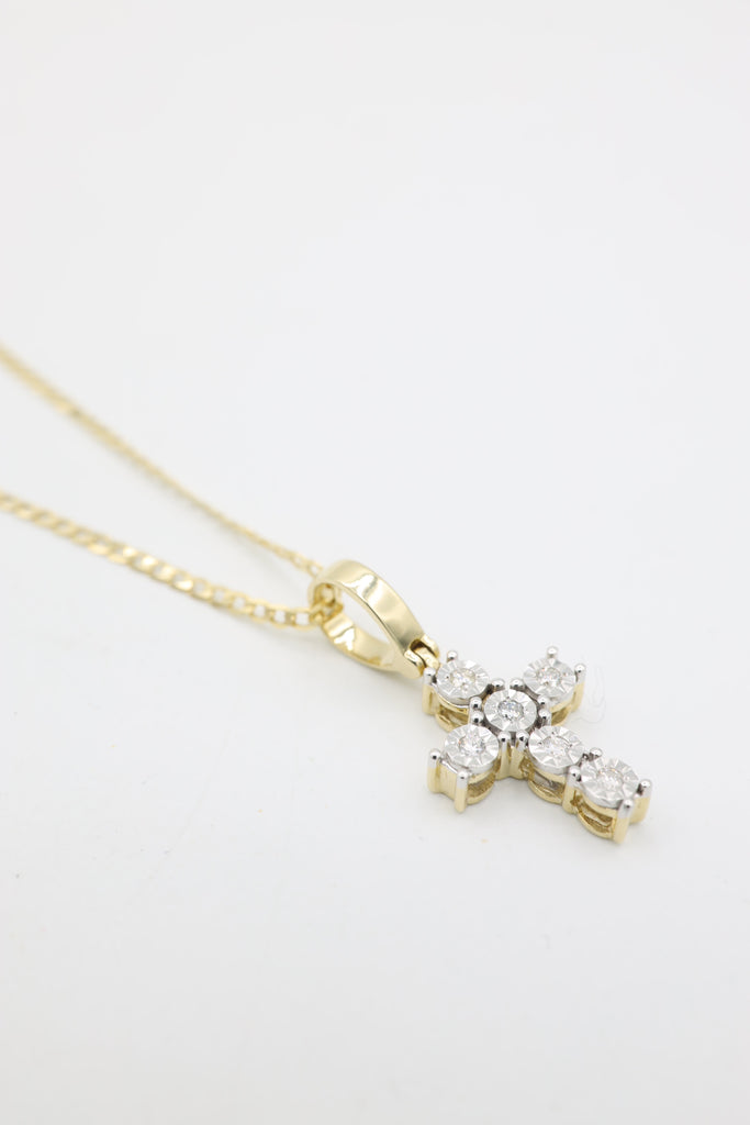 *NEW*14K Diamond 💎 Small Cross Pendant JTJ™- - Javierthejewelernyc