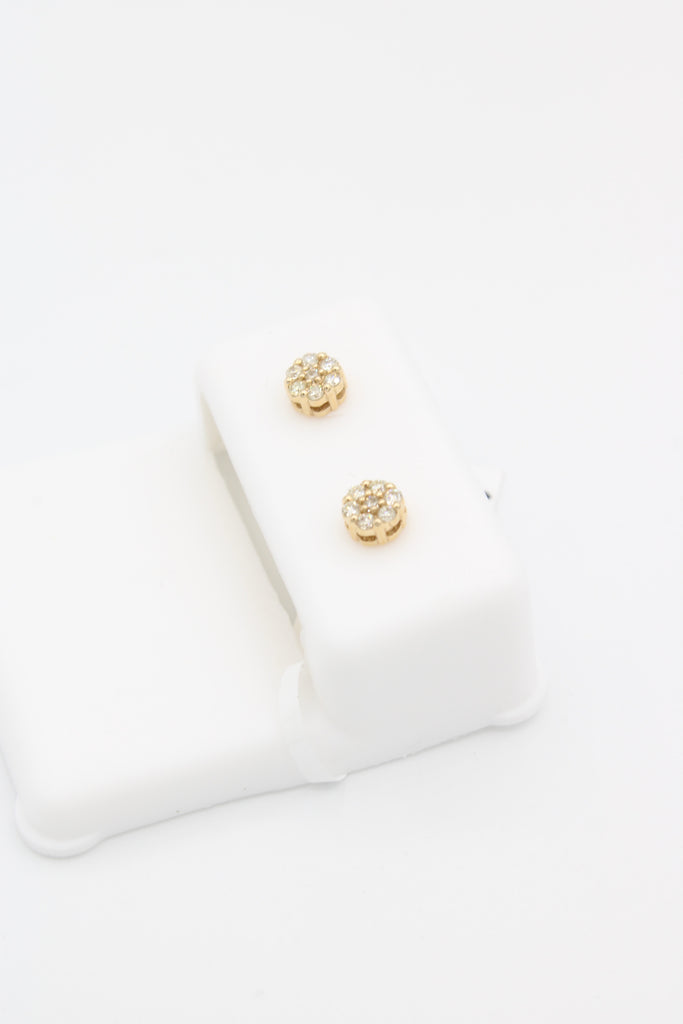 14k Money Flower( Diamond VS/SI) Studs Small Size JTJ™ - Javierthejewelernyc