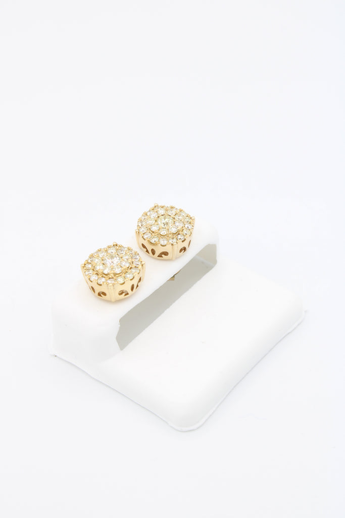 *NEW* 14k Earrings Round Yellow💎Diamonds💎 VS/S1  JTJ™ - - Javierthejewelernyc