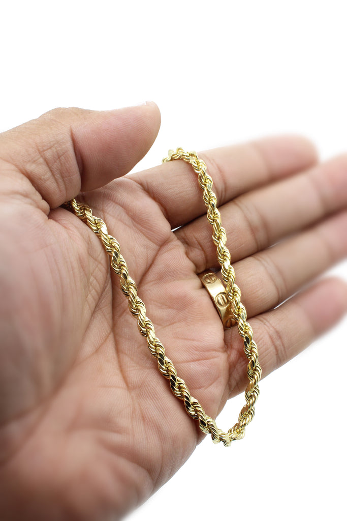 "*NEW* 14K Gold Hollow Rope Chain (5MM/26"") - JTJ™ - Javierthejeweler"