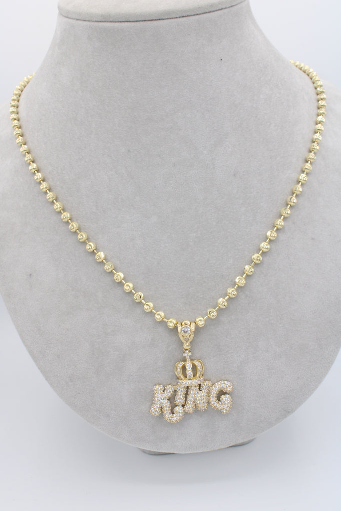 *NEW*14K King Pendant W / Moon Cut Chain JTJ™ - - Javierthejewelernyc