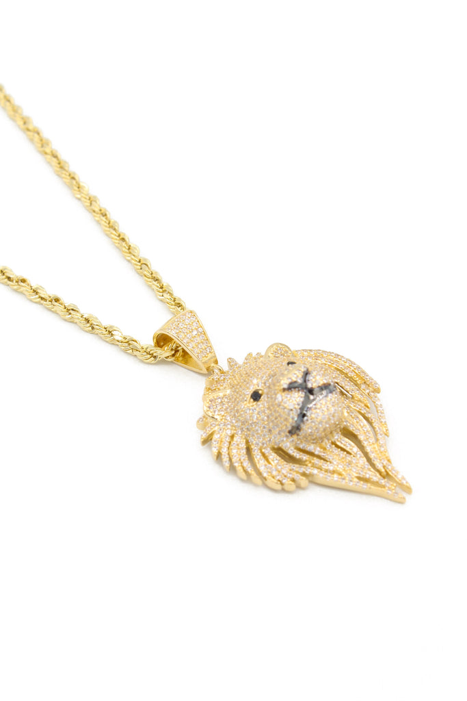 *NEW* 14k Lion Pendant W/ Hollow Rope Chain Included - JTJ™ - Javierthejewelernyc