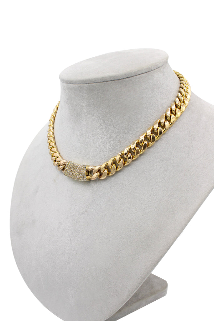 *NEW* 14K Hollow Choker (cz Lock) JTJ™ - - Javierthejeweler