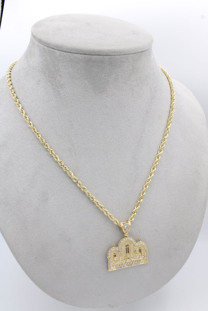 *NEW* 14K Hollow Rope Chain W/ Last Supper Pendant  JTJ™ - - Javierthejeweler
