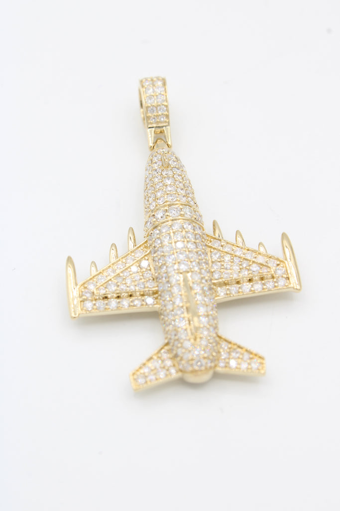 *NEW* 14K Air Plane 💎Diamond's Pendant JTJ™ - Javierthejeweler