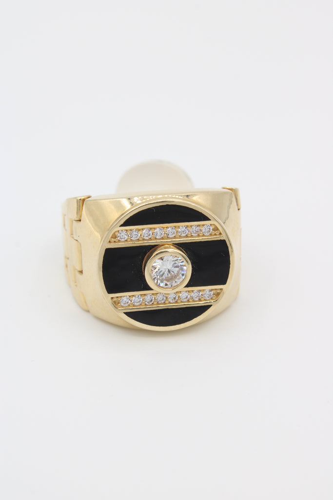 14k Ónix Men's Ring With CZ Stones JTJ™ - - Javierthejewelernyc