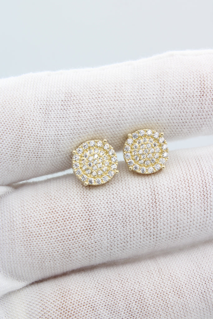 14K CZ Round Earrings JTJ™ - Javierthejewelernyc