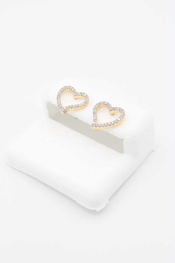 *NEW* 14K (VS)Heart Yellow Earrings Diamonds 💎 JTJ™ - Javierthejewelernyc