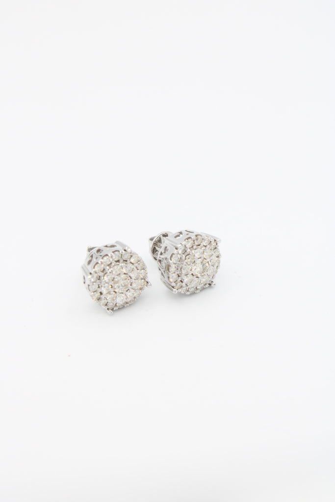 *NEW* 14k Jumbo Earrings Round White💎Diamonds💎 VS/S1  JTJ™ - - Javierthejewelernyc