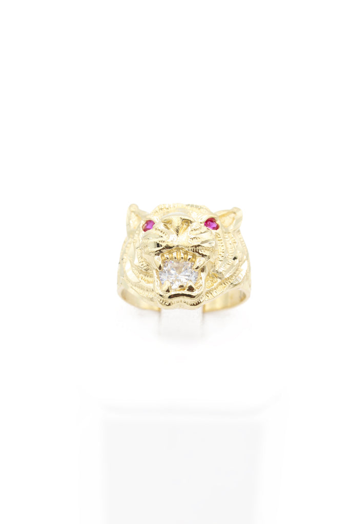 *NEW* 14k Men's CZ Ring (Tiger) JTJ™ - Javierthejeweler