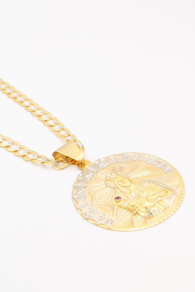 *NEW* 14k Virgin Pendant W/ Twotone Cuban Chain Included - JTJ™ - Javierthejewelernyc