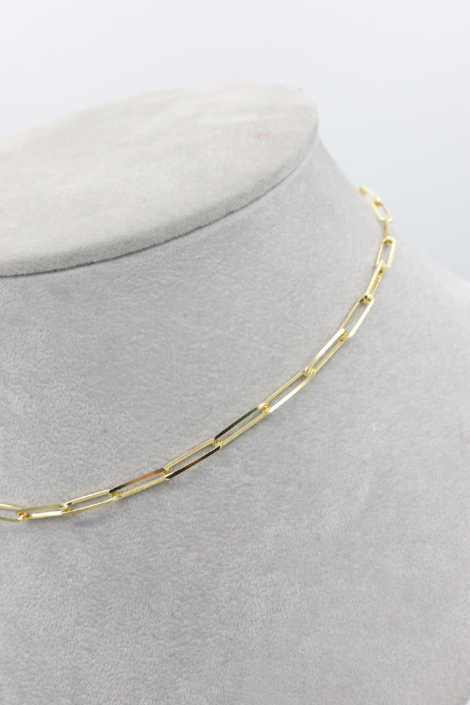 *NEW* 14K Paper Clip Necklace JTJ™ - - Javierthejewelernyc