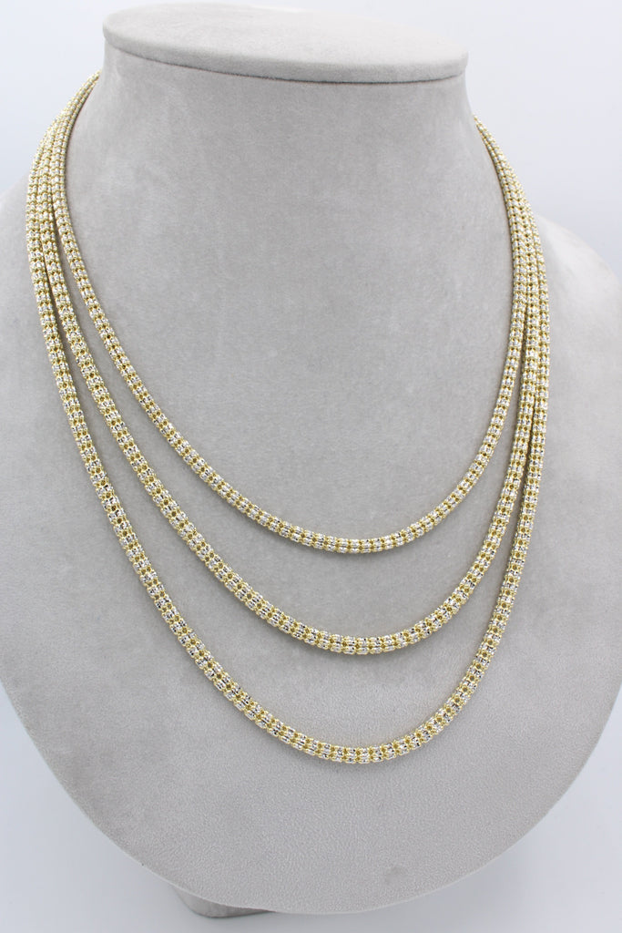 14K Gold Moon Ice Chain JTJ™- - Javierthejewelernyc