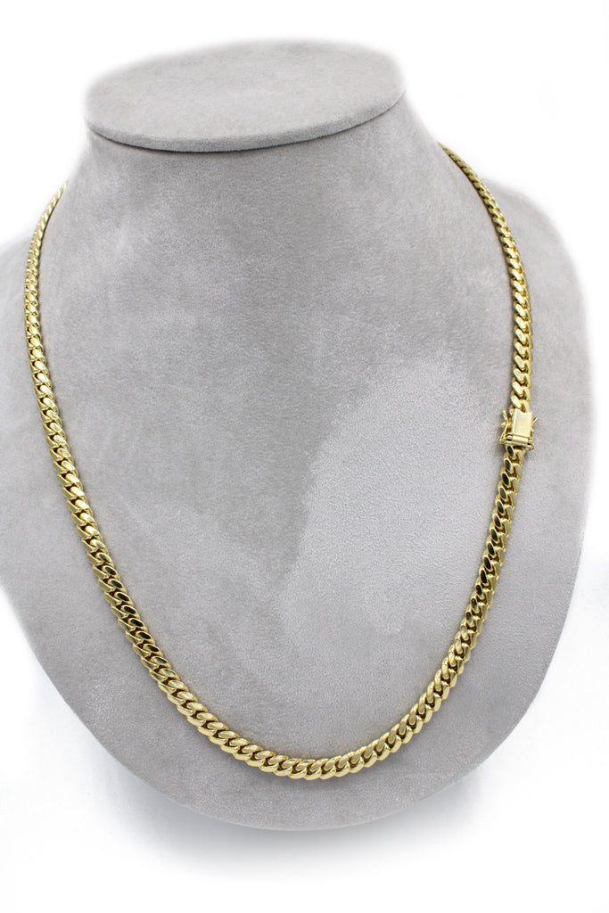 "NEW* 14k Solid Cuban Chain (24"" Inches//6MM)-JTJ™ - Javierthejeweler"