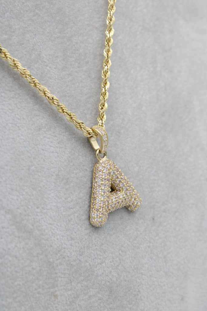 *NEW* 14k Hollow Rope Chain W/ Initial Pendant Included  JTJ™ - Javierthejewelernyc