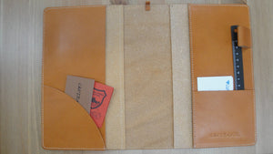 [Japanese Craftsman Made / Vintage] Notebook cover A5 size  (Leather tanned with vegetable tannins)