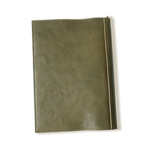 [Japanese Craftsman Made / Shrink] Book Cover A5 genuine leather bookmark included