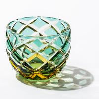 Load image into Gallery viewer, Taiburou Kobo (Traditional Craftsman Yasunori Kimura) [Edo Kiriko] Yarai Crest Transparent / Sake_Glass