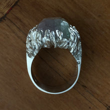 Load image into Gallery viewer, Green Dragon's Eye Silver Ring