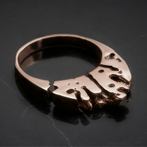 AMBRY Solid Rose Gold Crown Ring