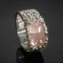 Load image into Gallery viewer, Pink Dragon's Eye Silver Ring