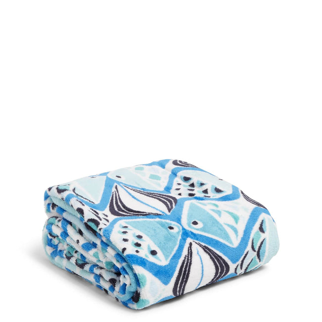 Factory Style Throw Blanket-Go Fish Blue-Image 1-Vera Bradley