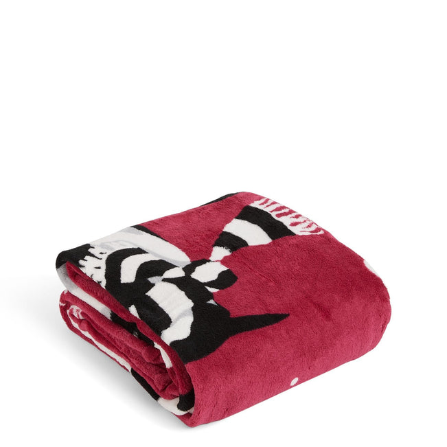 Factory Style Throw Blanket-Playful Penguins Cabernet-Image 1-Vera Bradley
