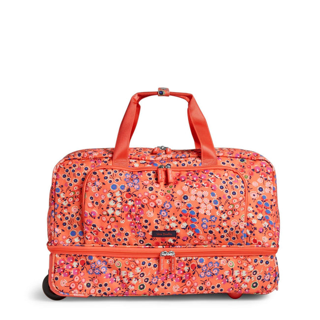 Wheeled Carry-On-Coral Meadow-Image 1-Vera Bradley