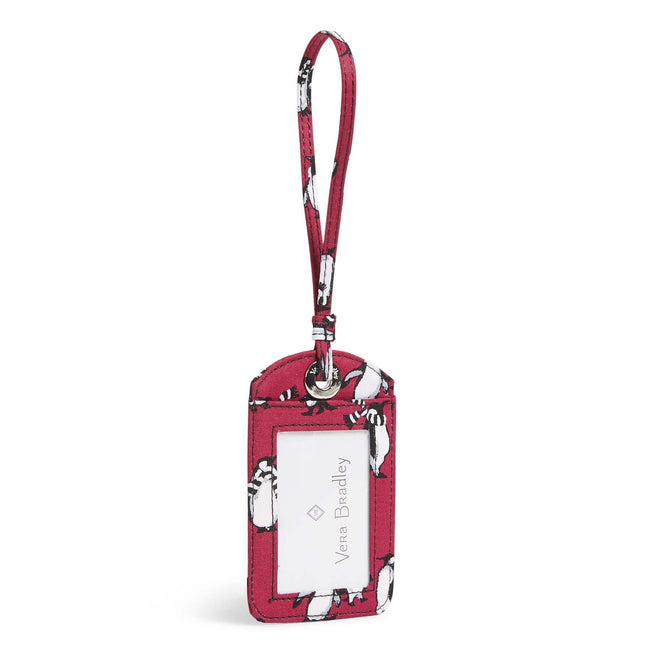 Factory Style Luggage Tag-Playful Penguins Cabernet-Image 1-Vera Bradley