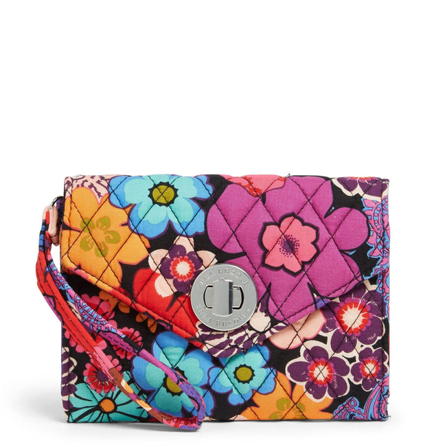 Factory Style Your Turn Smartphone Wristlet-Floral Fiesta-Image 1-Vera Bradley