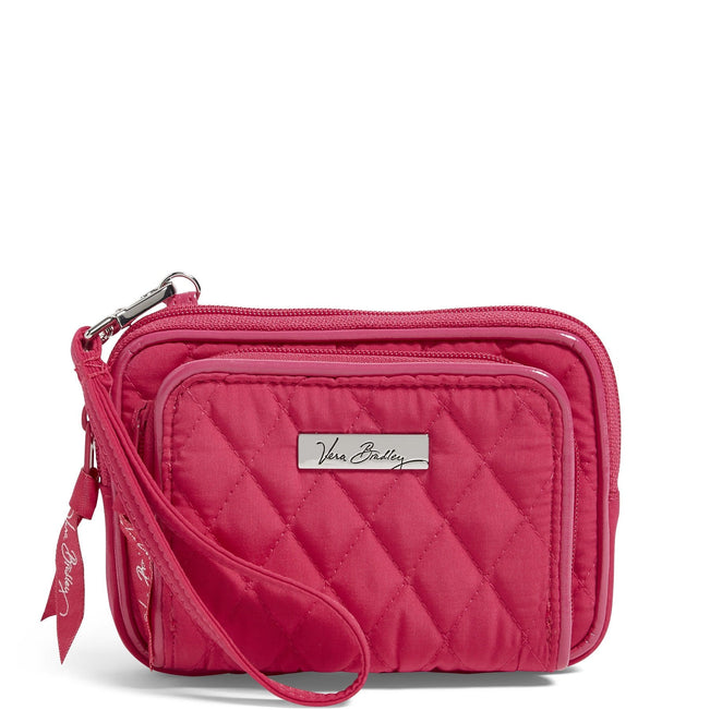 Factory Style On the Square Wristlet-Microfiber Fuchsia Fuchsia Trim-Image 1-Vera Bradley