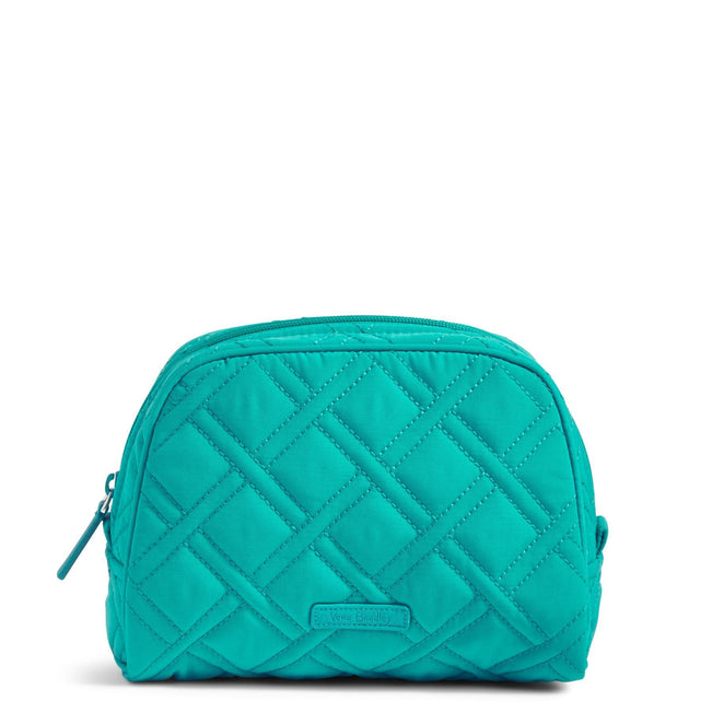 Medium Zip Cosmetic Bag-Microfiber Turquoise Sea-Image 1-Vera Bradley