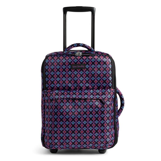 Small Foldable Roller Luggage-Diamond Foulard-Image 1-Vera Bradley