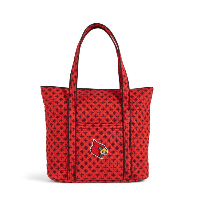 Collegiate Vera Tote Bag-Red/Black Mini Concerto with University of Louisville Logo-Image 1-Vera Bradley