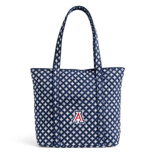 Collegiate Vera Tote Bag-Navy/White Mini Concerto with University of Arizona Logo-Image 1-Vera Bradley