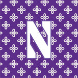 Collegiate Vera Tote Bag-Purple/White Mini Concerto with Northwestern University Logo-Image 2-Vera Bradley
